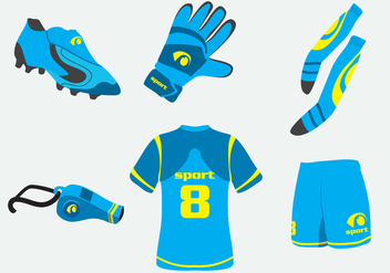 Blue Football Kit Vector - Free vector #390783