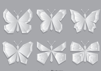Geometric Butterfly Vector Set - vector gratuit #390813