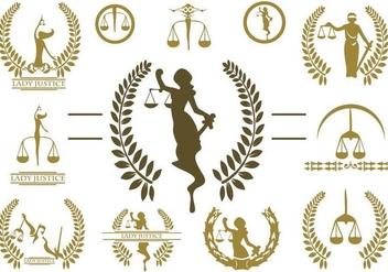 Free Lady Justice Logo Vector - Kostenloses vector #390953