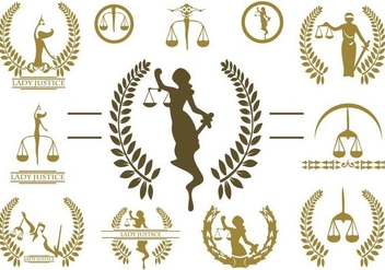 Free Lady Justice Logo Vector - Free vector #390953