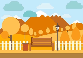 Free Vector Autumn Illustration - Free vector #390973