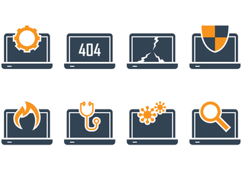 Notebook Icon Set - vector gratuit #391113