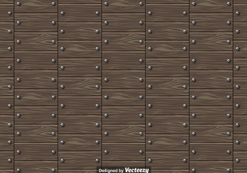 Vector Seamless Pattern Of Wooden Planks With Nails - Free vector #391173