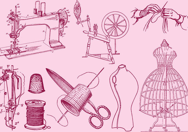 Fashion And Sewing Drawing - Free vector #391223