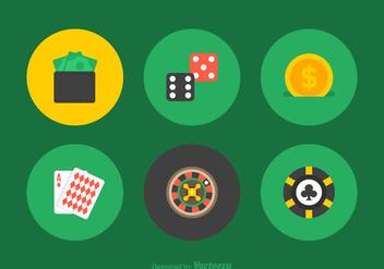 Free Gambling Vector Flat Icons - Free vector #391383