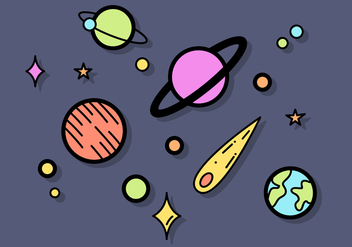 Free Planets Vector - Free vector #391473