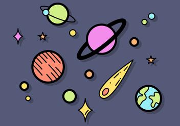 Free Planets Vector - Kostenloses vector #391473