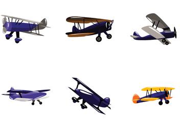 Vector Biplane Set - Free vector #391533