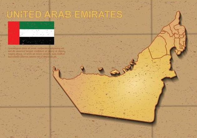 Free UAE map Illustration - Free vector #391623
