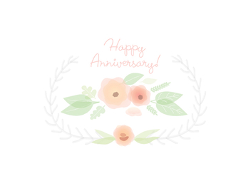 Flower Card Illustration - vector #391683 gratis