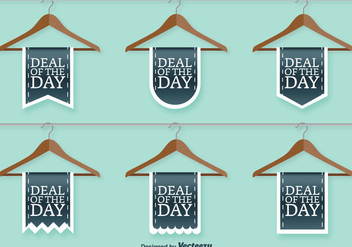Clothing Shop Sale Vector Signs - Free vector #391753