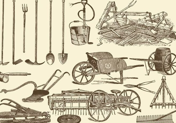 Agriculture Tools - Free vector #391773