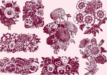 Bouquet Of Flowers - Free vector #391893