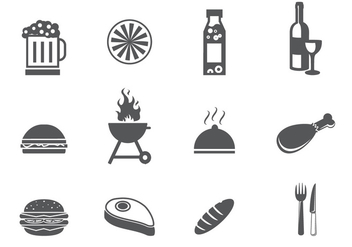 BBQ and Tailgating Icon Set - Free vector #392383