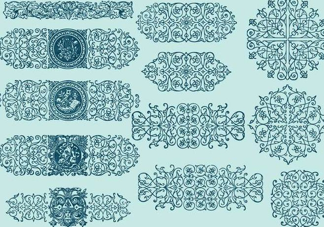 Line Scrollwork Dividers - Free vector #392413