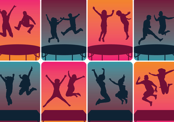 Trampoline Silhouettes Jumping - vector #392783 gratis