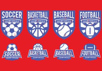 American Sports Badge - Kostenloses vector #392793