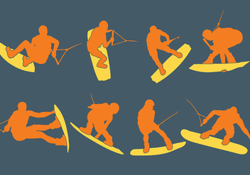 Free Wakeboarding Icons Vector - Free vector #392803