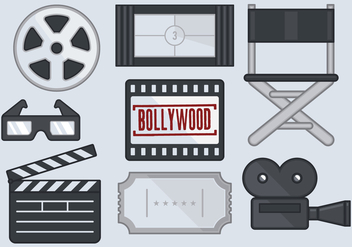 Bollywood Movie Icon - vector #393063 gratis