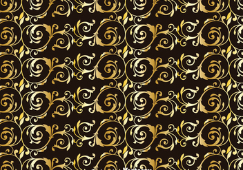 Gold Achantus Ornament Background - Free vector #393263