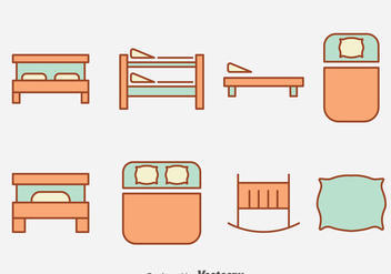 Sleeping Bed Collection Vector - бесплатный vector #393293
