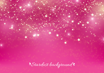 Pink Vector Stardust Background - Kostenloses vector #393513