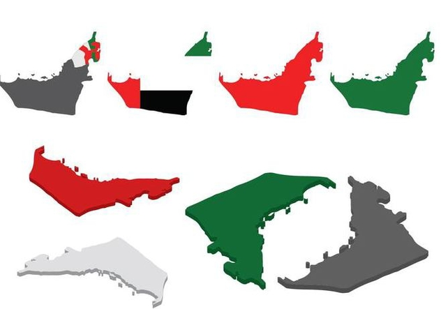 Free UAE Map Vector - бесплатный vector #393633