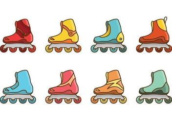 Free Roller Blade Vector - Free vector #393643