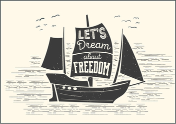 Free Boat Vector Typography - Free vector #393723