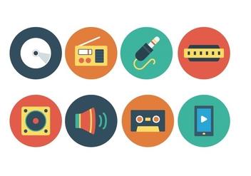 Free Music Icon Set - vector #393783 gratis