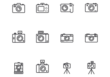 Camera Thin Icons - vector gratuit #393903