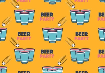 Beer Pong Pattern Vector - бесплатный vector #394173