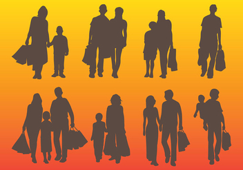 Free Family Shopping Icons Vector - Free vector #394203