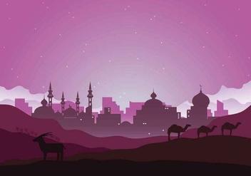Free Arabian Night Illustration - Free vector #394323