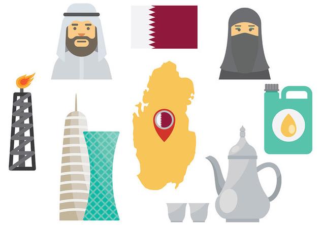 Free Qatar Icons Vector - Free vector #394393