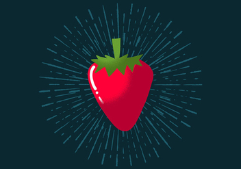 Radiant Strawberry - vector gratuit #394513