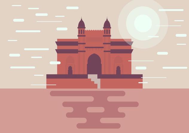 Mumbai Monument Illustration Vector - Free vector #394593