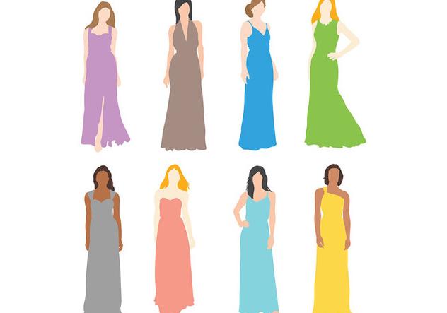 Free Bridesmaid Icons Vector - Free vector #394653