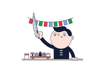 Free Sushi Master Vector - Kostenloses vector #394673