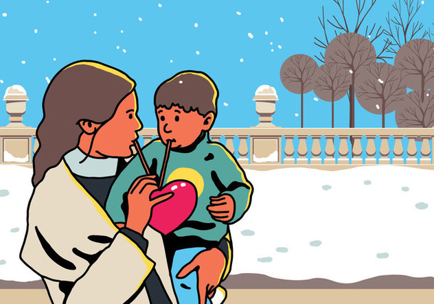 Vector Mom And Child Share Love - Free vector #394883