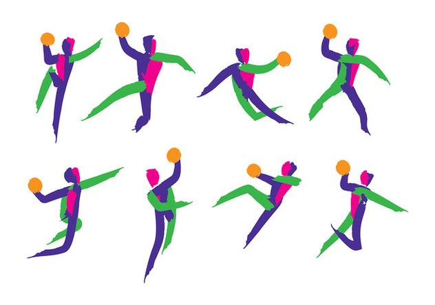 Handball Icon Vector - Free vector #394893