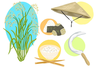 Free Rice Field Collection - Free vector #394943