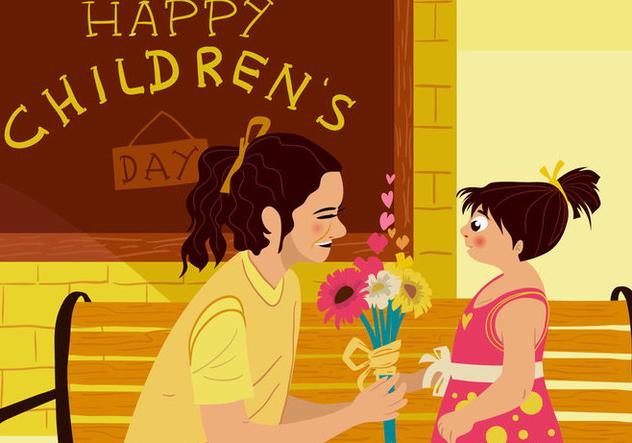 Mom Appreciate Childrens Day - Free vector #395013