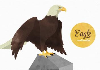 Free Watercolor Eagle Vector - Free vector #395113