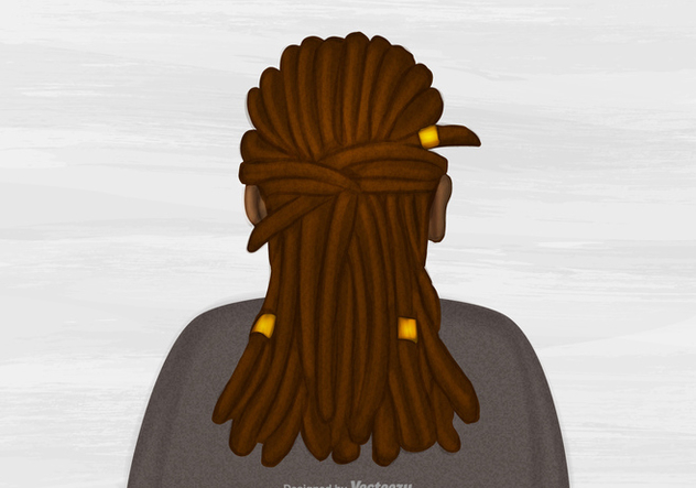 Free Vector Dreads Hairstyle Illustration - vector #395133 gratis