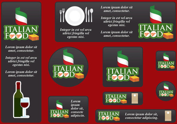 Italian Food Banners - vector #395203 gratis