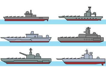 Aircraft carrier vector - Free vector #395223
