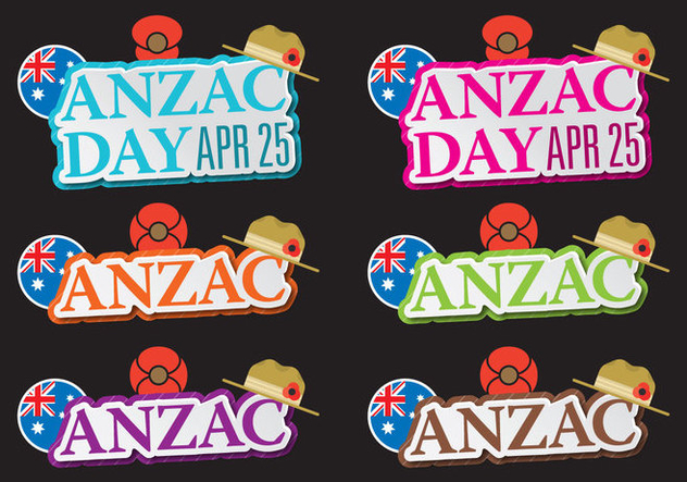 Anzac Titles - Free vector #395333