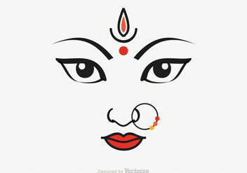 Free Vector Goddess Durga Illustration - Kostenloses vector #395563