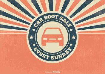 Retro Car Boot Sale Illustration - Free vector #395603